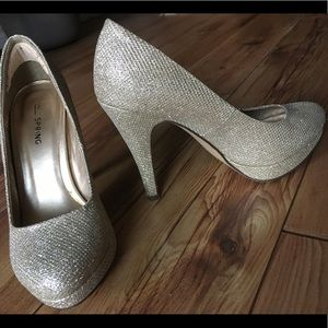 Call it Spring Champagne Heels (not glitter)  6